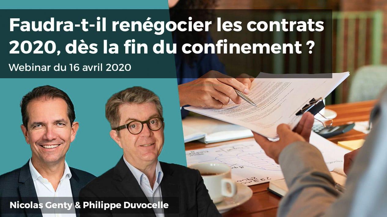 [Webinar] Faudra-t-il renégocier les contrats 2020,dès la fin du confinement ?